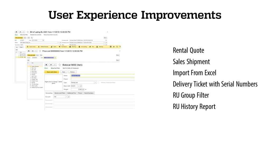 User Expirience - RigER - Oilfield Rental Software