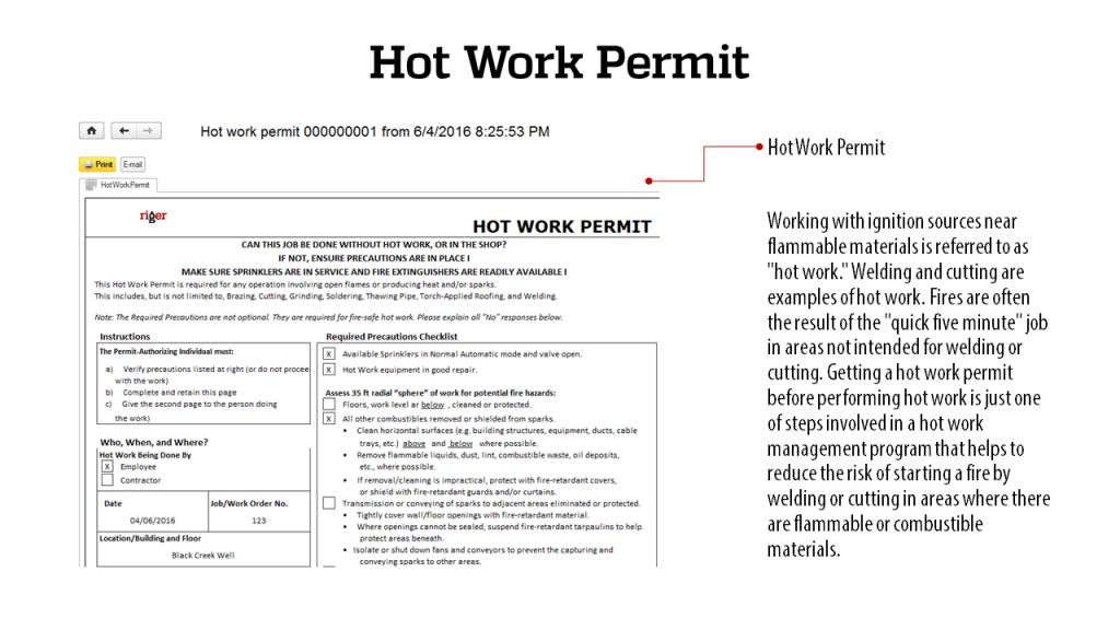 Hot Work Permit - RigER Safety First 3.2
