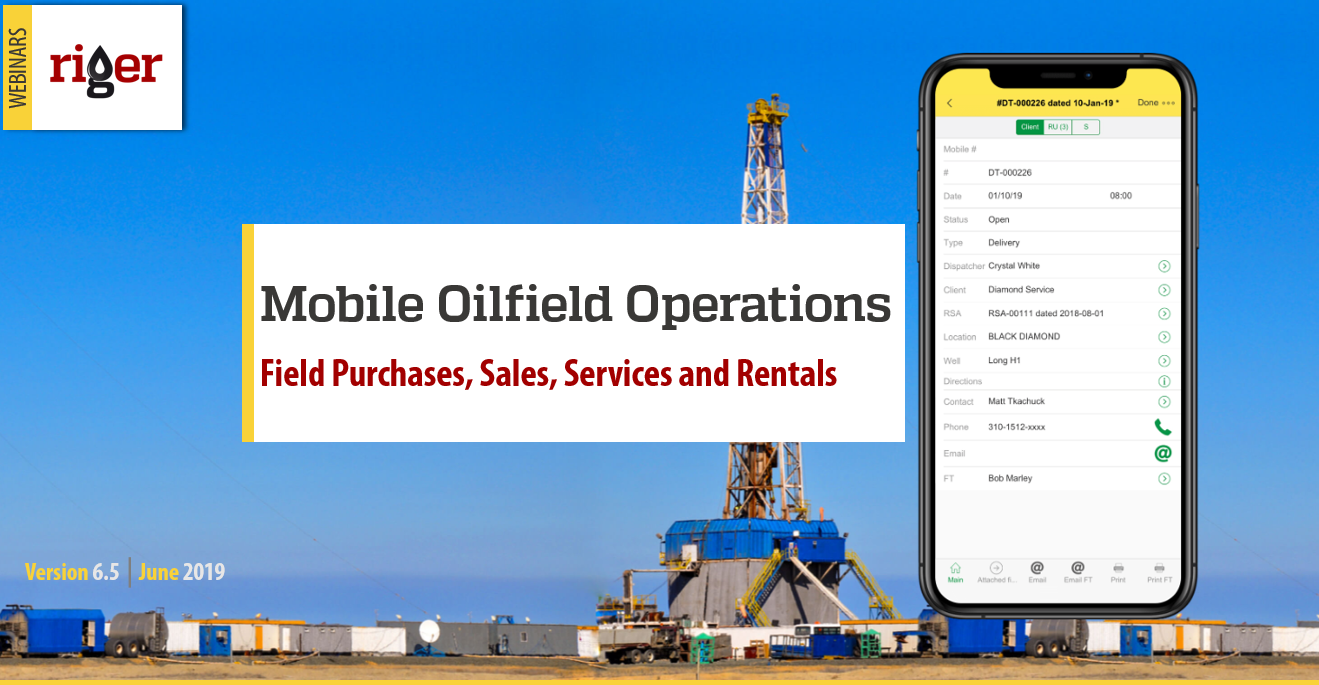 Mobile Oilfield Operations