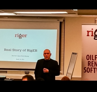 RigER Mobile was Presented at New Tech Calgary Meetup