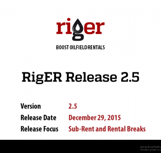 RigER Version 2.5 – Sub-Rent and Rental Breaks