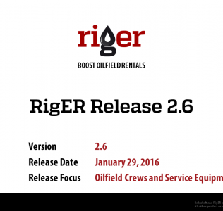 RigER Version 2.6 – Oilfield Crews and Service Equipment Hours