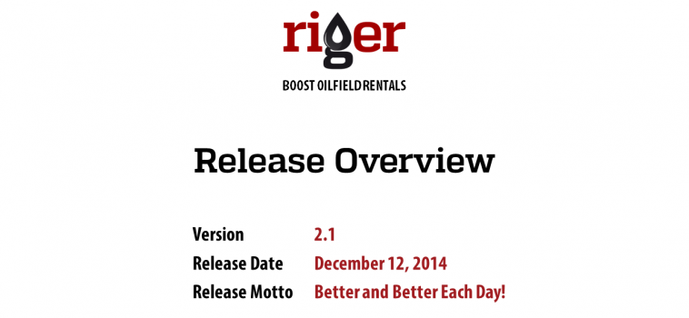 RigER Version 2.1 Release Overview