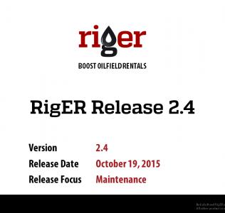 RigER Version 2.4 – Rental Equipment Maintenance