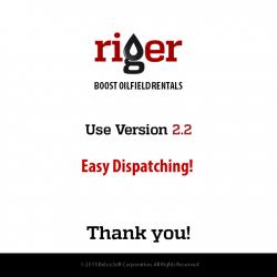 RigER Version 2.2 – Oilfield Dispatching