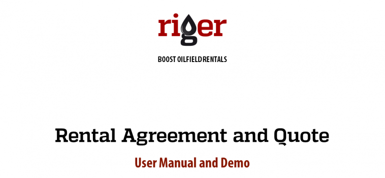 RigER Demo: Rental Agreement and Quote