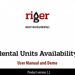 RigER Demo: User Manual and Demo. Rental Units Availability Dashboard